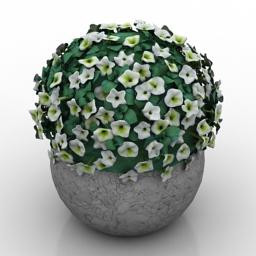 Vase flowers 3d model