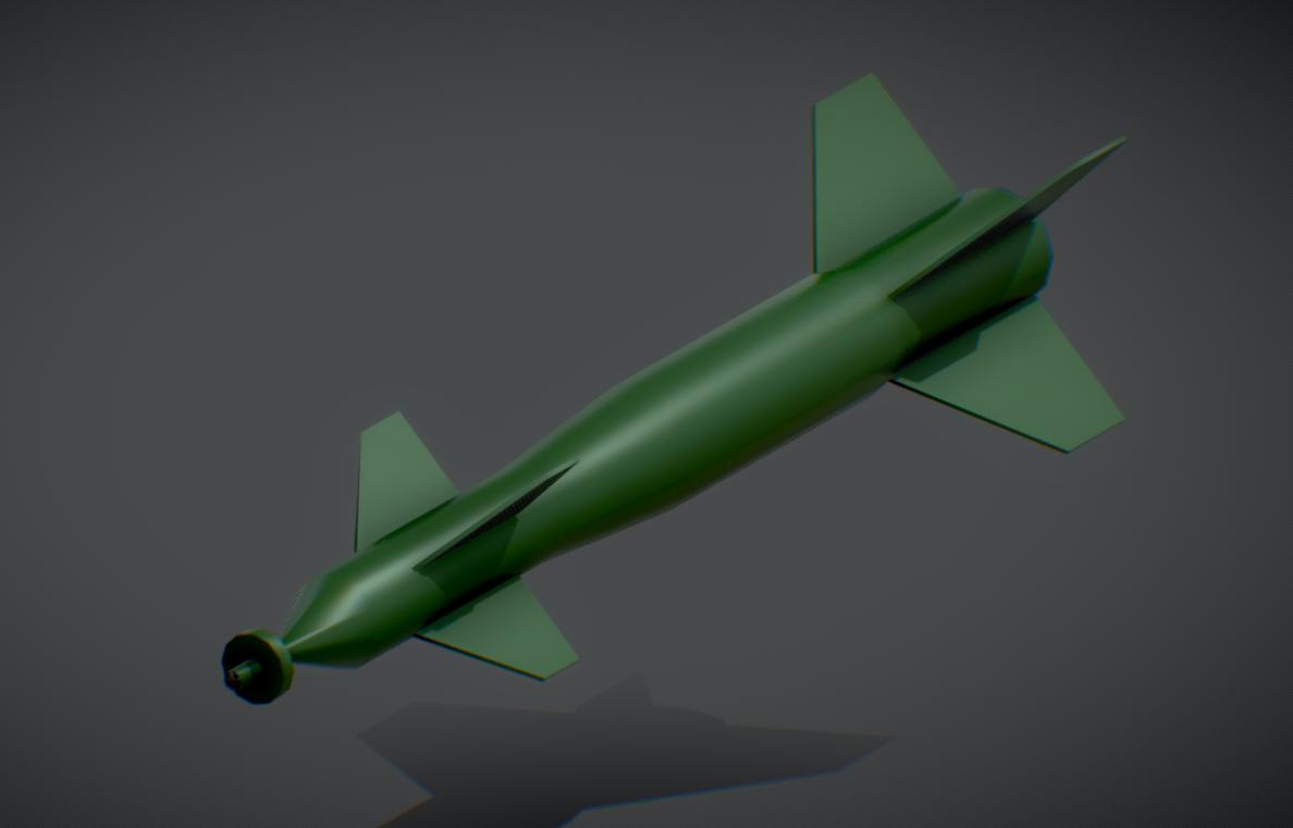American Aviation (GBU) Bomb Lowpoly