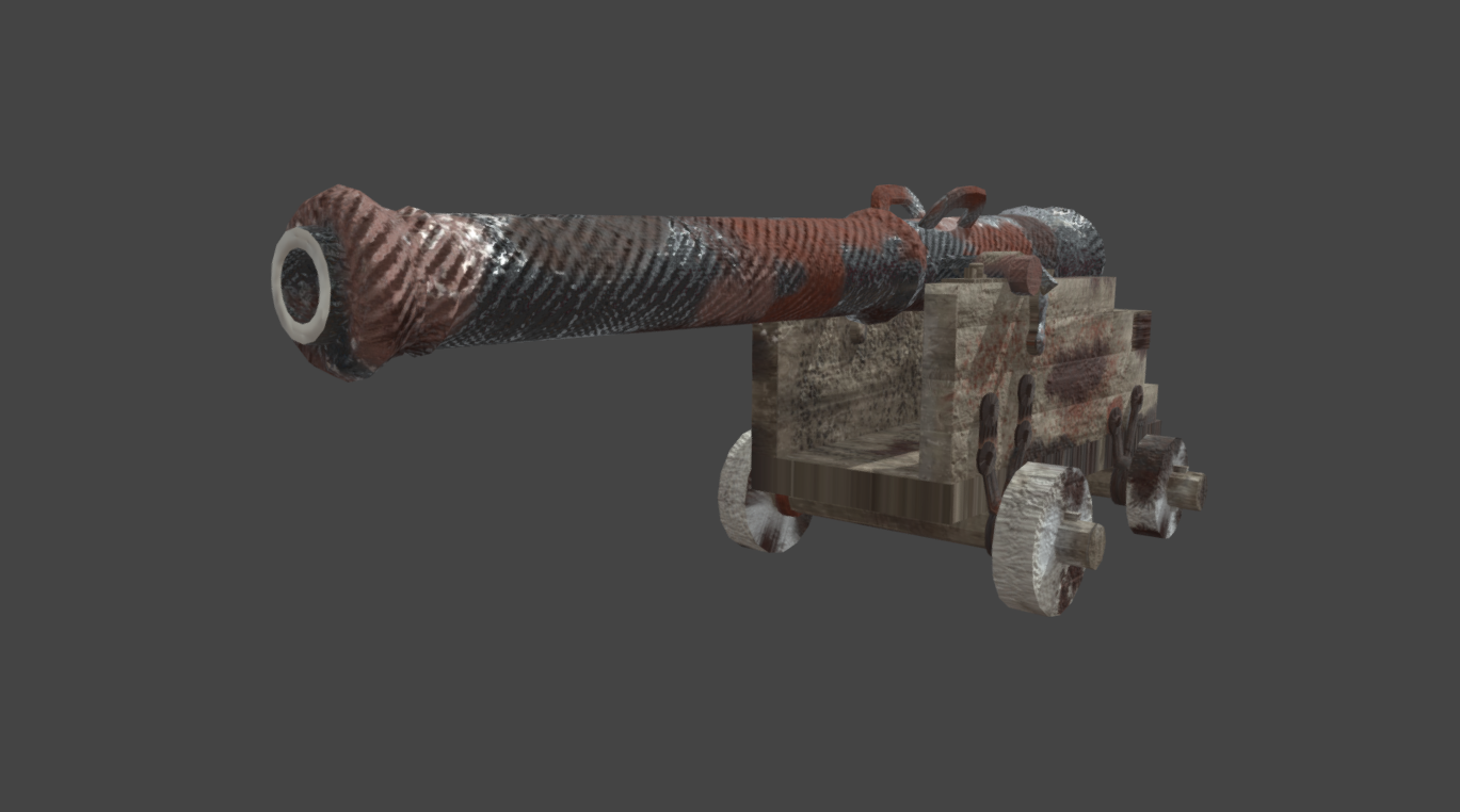 Cannon (Painted/Textured)