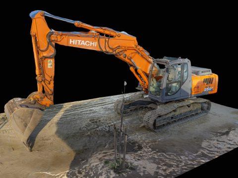 Excavator 3d scan RAW