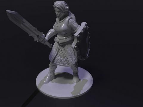 Female Human Fighter / Paladin