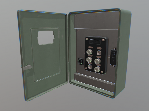 Freebie - Game Art: Vintage Fuse Box