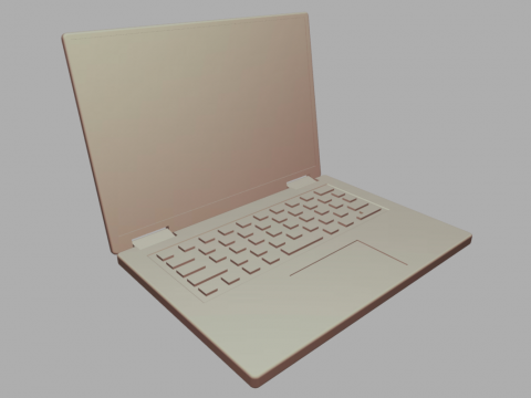 Low-poly Laptop Computer