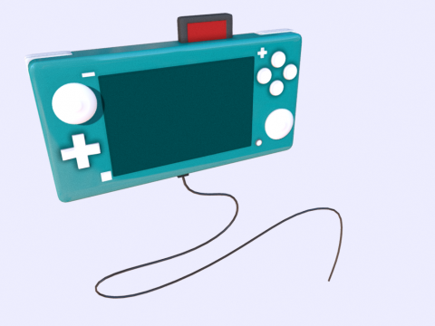 Nintendo Switch Lite Turquoise - Low Poly