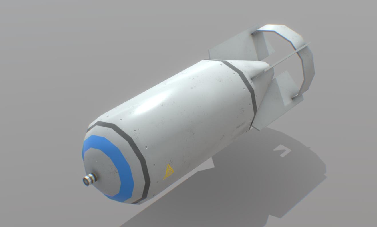 Russian FAB-500 Aviation Bomb Free Lowpoly model