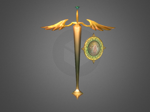 Sacred Sword and Stained glass shield