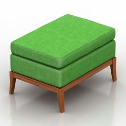 Seat green 3d model