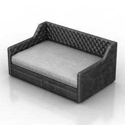 Sofa bed Wells Dantone home 3d model