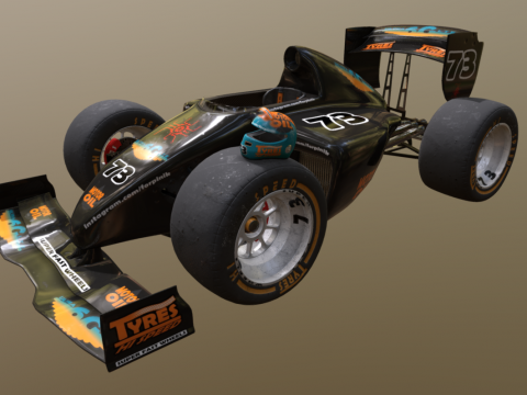 Stylized F1 car