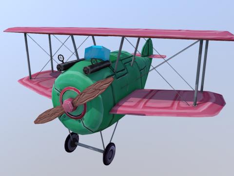 Stylized WW01 Plane