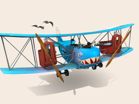 Stylized WWI plane - AEG G.IV