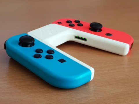 Supportless Joycon Grip with LED Windows