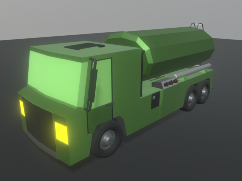 Tanker Truck Low Poly