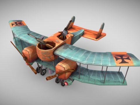 WW1 Stylized Plane (Gotha G.1)