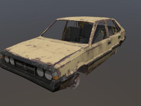 Wrecked FSO Polonez
