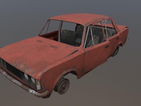 Wrecked Fiat 125p