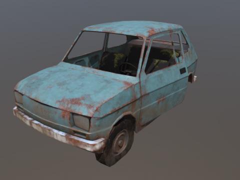 Wrecked Fiat 126p