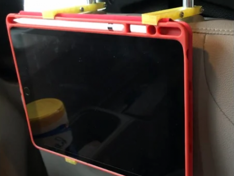 iPad holder for headrest
