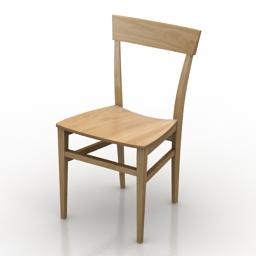 Chair Italien light 3d model