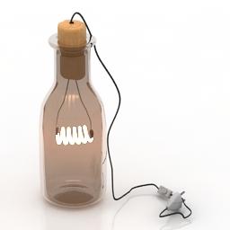 Lamp bottle 3d model