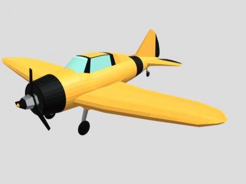 Low poly airplane - Reggiane Re 2000