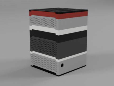 5.0L EXPANDABLE STACKING MINI-ITX SFF PC CASE