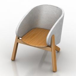 Armchair Branca Lisboa Curva 3d model