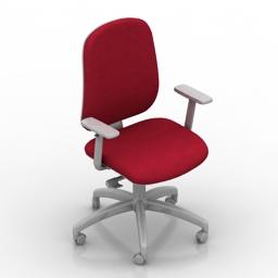 Armchair Milani Chair 04 CUBOX 3d model