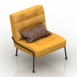 Chair West Elm Oswald Tufted Slipper 3d model