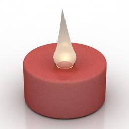 Lamp CB2 Led candle lights 3d model