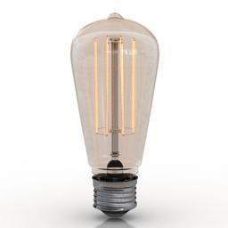 Lamp Edison 3d model