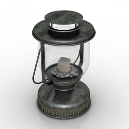 Lamp retro decor 3d model
