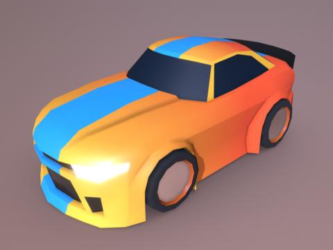 Low-poly racing car