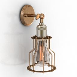 Sconce Ancient Lantern Spot Lamp 3d model