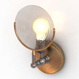 Sconce Glasslight Lens Restoration Hardware 3d model
