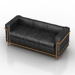 Sofa Cosmorelax LC3 3d model