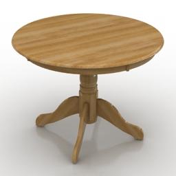 Table IKEA Lidingbi round 3d model