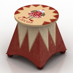 Table VITTORIO GRIFONI Circus Night table 1791 3d model
