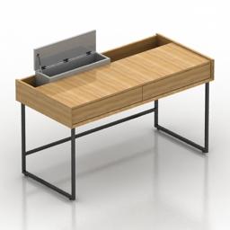 Table desk Notule Ligne Roset 3d model