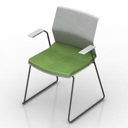 Armchair Bene B Side 3d model