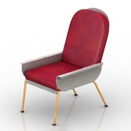 Armchair Officine Tamborrino POPE 3d model