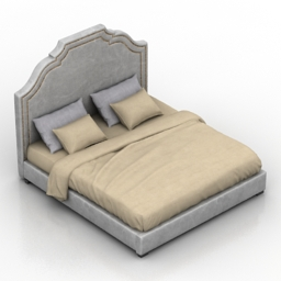 Bed Bristol Dantone home 3d model