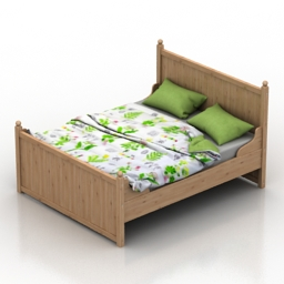 Bed IKEA HURDAL 3d model
