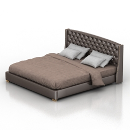 Bed Jarroy Capitone Dantone home 3d model