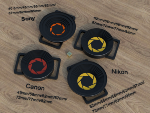 Lens Cap Holders for Canon, Nikon and Sony DSLRs