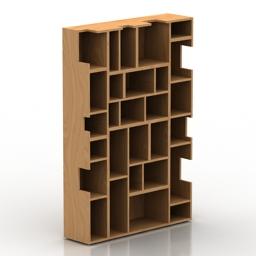 Rack bookcase Riva 1920 Neuma 3d model