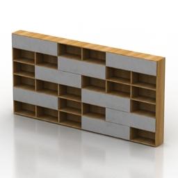 Rack interluebke studimo 3d model