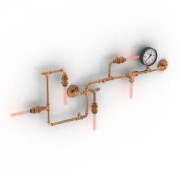 Sconce Gramercy Home TUBE SCONCE 3d model