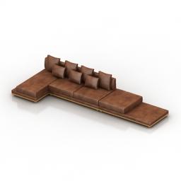 Sofa Muna 3d model