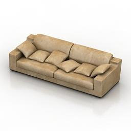 Sofa Smania Mister P 305 3d model